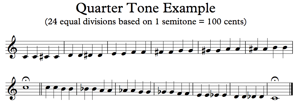 West Meets East Notation Playback Of Quarter Tone Music Using