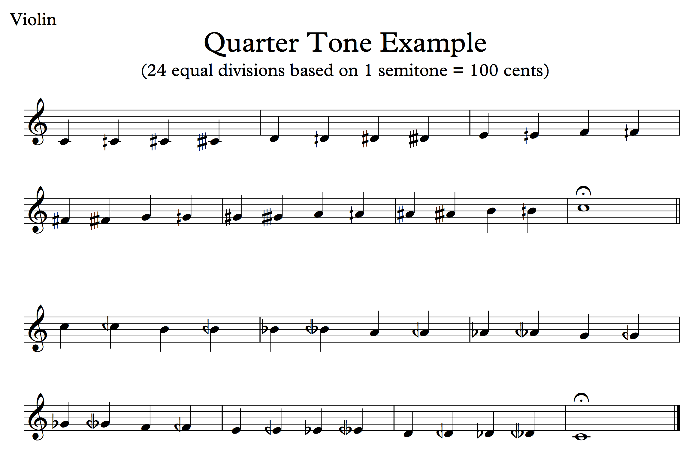West meets East – Notation & playback of Quarter tone music