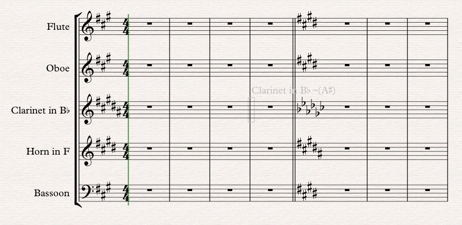 Alternate Key Signatures for Transposing Instruments – OF NOTE