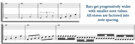 Create True Equidistant Measure Widths In A Sibelius Score Of Note