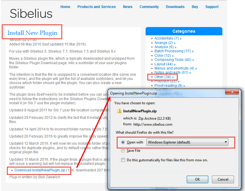 Plugin Download Sib 6