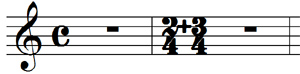 """Plus"" symbol baseline doesn't match common time signature baseline"