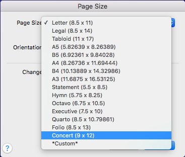 how to change the size of a page