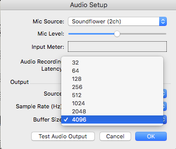 Audio Buffer options - Finale
