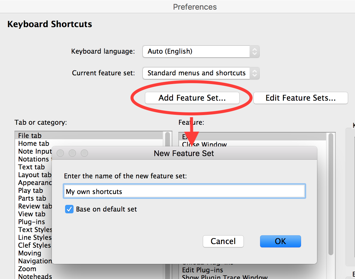 Create Your Own Keyboard Shortcuts In Sibelius Of Note