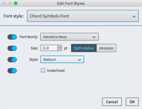 How To Edit Chord Symbol Appearances In Dorico Of Note