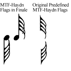 MTF-Haydn font flags in Finale